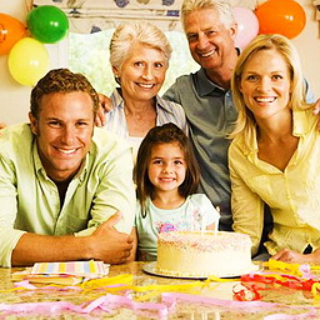 Семейные картинки с днем рождения